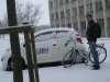 Winter with bicycle